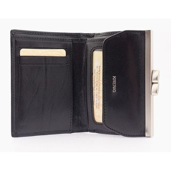 Small Ladies  Wallet - Black Leather