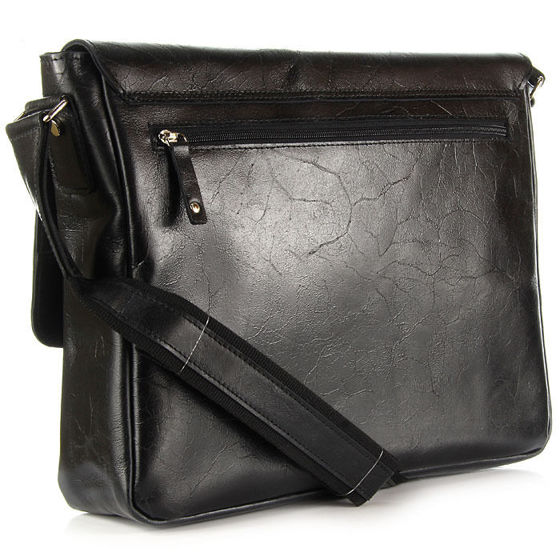 Black Document Bag with Shoulder Strap, DAAG, Jazzy Party No.53