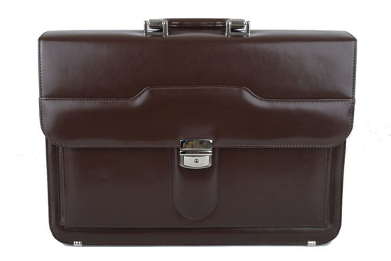 Brown Leather Briefcase B-354/DW