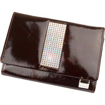 Giovani Brown Purse with Swarovski Crystals
