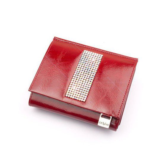 Giovani Red Purse with Swarovski Crystals