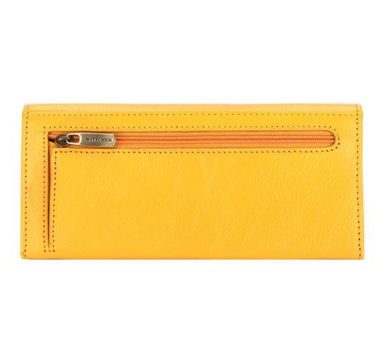 Italian Style Yellow Leather Purse