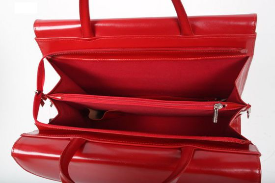 Ladies Red Leather Briefcase
