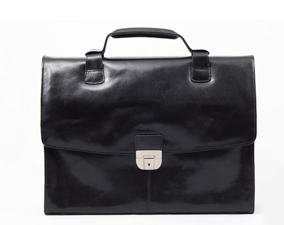 "Large Black Executive Briefcase ""Alchemist"""