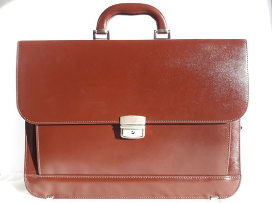 Leather Briefcase B-392/DW