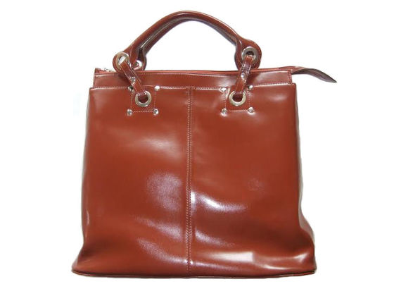 "Leather Handbag ""Stefania"" B-815/DW"