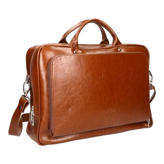"Medium Briefcase with 15"" Laptop Compartment for Men  ""Crispera"" MTL 1930"