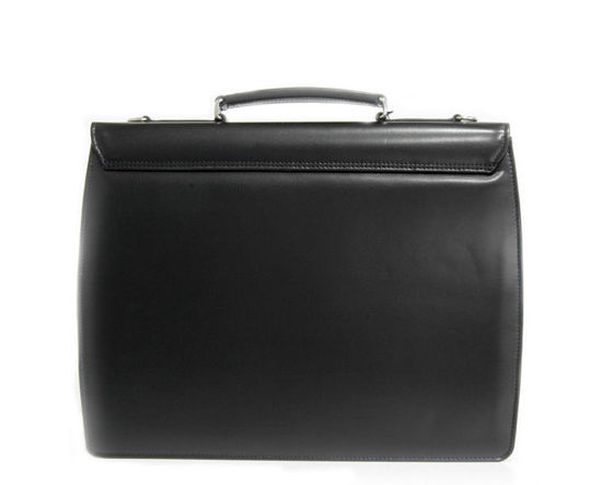 "Modern Design Black Briefcase with a Key Lock, ""MIM"""