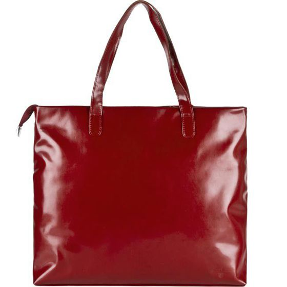 Red Leather Handbag No Name