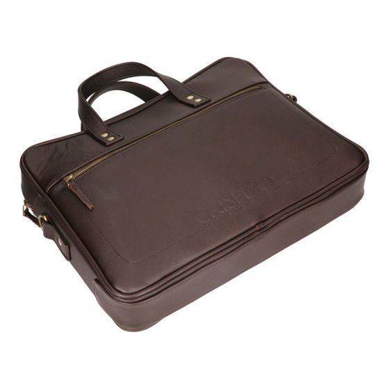 "Single Chamber Leather 15"" Laptop Bag MTL 1904"