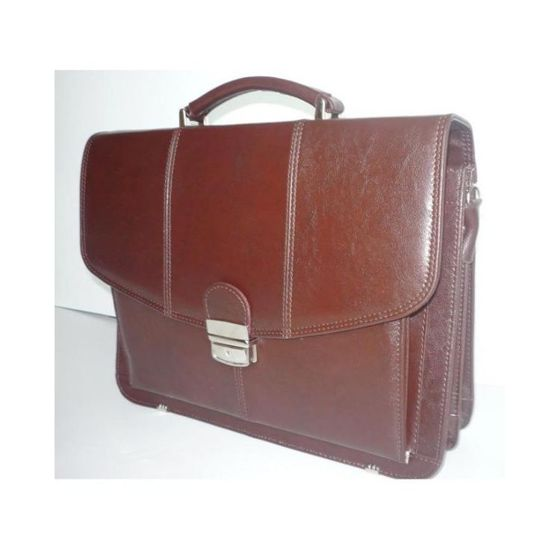 Small Classic Leather Briefcase No.523+