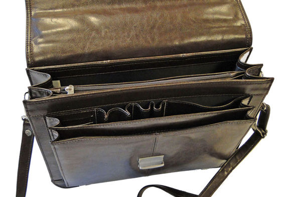 Small Classic Leather Briefcase No.523
